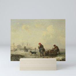The Newa at St Petersburg (Leningrad) in the Winter, Theodor Hildebrandt, 1844 Mini Art Print