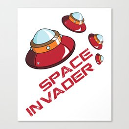 Space Invader Canvas Print
