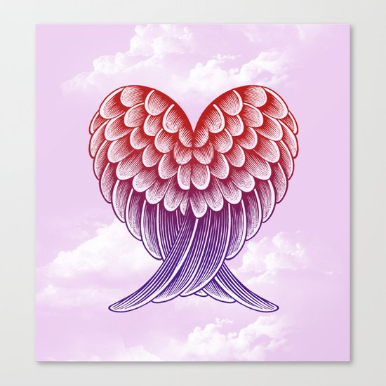 Heart Wings [Pink Version] Canvas Print