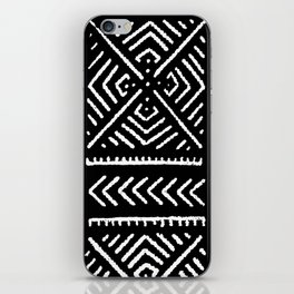 Line Mud Cloth // Black iPhone Skin