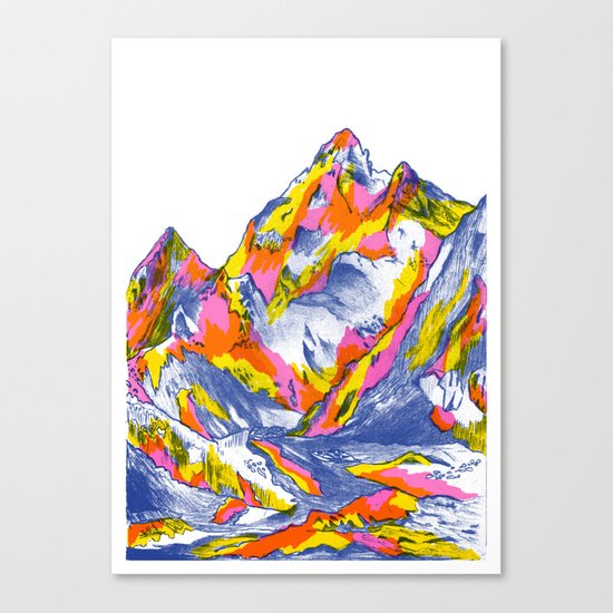 Mountain top canvas print by marcelo romero society6 for Best website for canvas prints