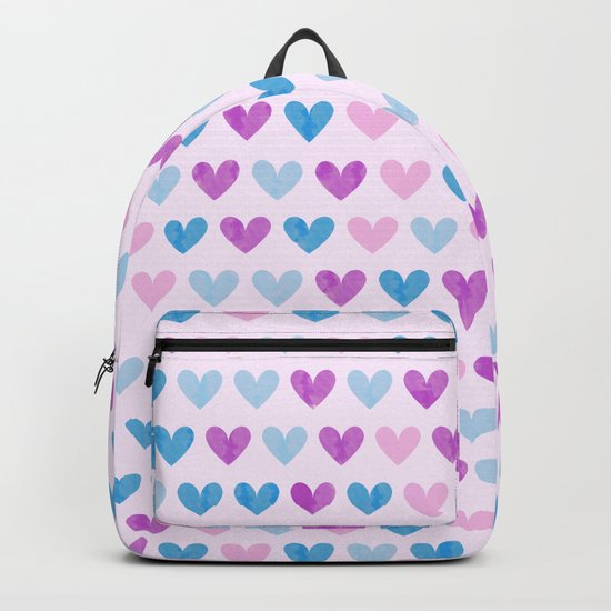 Colorful hearts VII Backpack