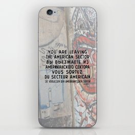 Checkpoint Charlie Signage, Berlin Wall iPhone Skin