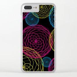 Spiro Blooms in Noir Clear iPhone Case