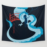 spirited away Wall Tapestries featuring Spirited by IlonaHibernis