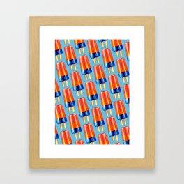 Popsicle Pattern - Rainbow Framed Art Print