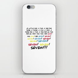 Friends quotes - Seven! iPhone Skin