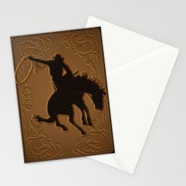 Leather Rodeo Cowboy Stationery Cards