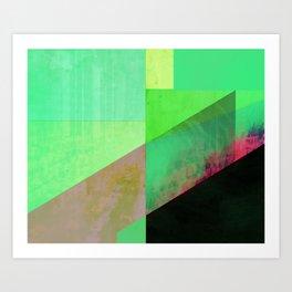 Green City Abstract Art Print