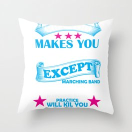 Marching Band Music Director Design Throw Pillow