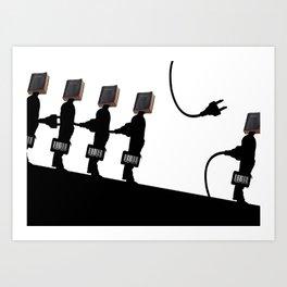 Facebook Factory Art Print