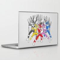 power rangers Laptop & iPad Skins featuring Mighty Morphing Lone Rangers by Jonah Makes Artstuff