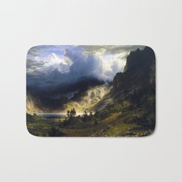 A Storm In The Rocky Mountains Bath Mat