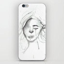 sad gurl iPhone Skin