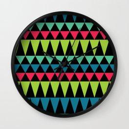 Neon Southwestern Pattern Wall Clock