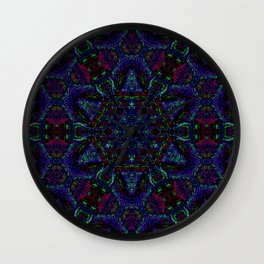 Near Black Daylily (under metaphorical blacklight) Wall Clock