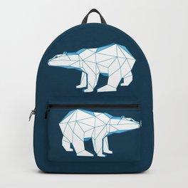 Blue geo polar bear looking for love.. Backpack