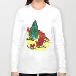 Big moo, wee moo (colored version) Long Sleeve T-shirt