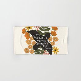 I Am No Bird Jane Eyre Quote Hand & Bath Towel