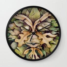 Green Man Wall Clock