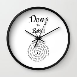 Alice In Wonderland Down The Rabbit Hole Wall Clock