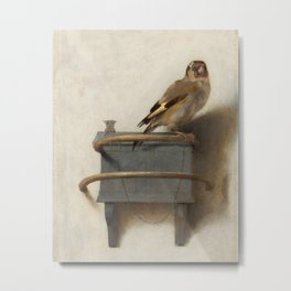 The Goldfinch Painting by Carel Fabritius, 1654 Metal Print