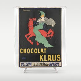 CHOCOLAT KLAUS FRENCH VINTAGE POSTER Shower Curtain