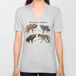 Hyenas of Africa Unisex V-Neck