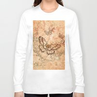 butterflies Long Sleeve T-shirts featuring Butterflies by nicky2342