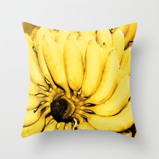 Yellow bananas Throw Pillow