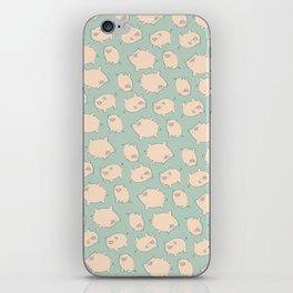 small pigs (teal) iPhone Skin