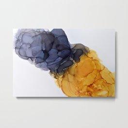 Yellow& Black Smoked Art Metal Print