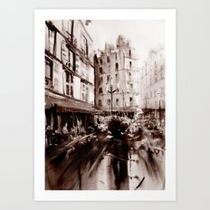 Parisian crowd Art Print
