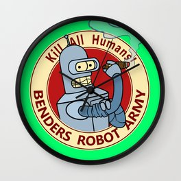 Benders Robot Army! Wall Clock