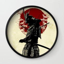 samurai redmoon Wall Clock