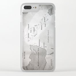 MAP OF MESOPOTAMIA Clear iPhone Case