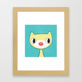 Yellow Kitty  Framed Art Print