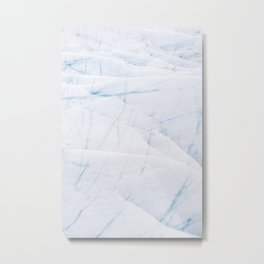 Bright and Minimalist Ice Textures from an Icelandic glacier Metal Print