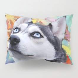 Dreaming Husky Pillow Sham