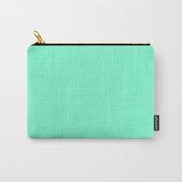 Solid Bright Aquamarine Aqua Blue Green Color Carry-All Pouch
