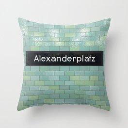 Berlin U-Bahn Memories - Alexanderplatz Throw Pillow
