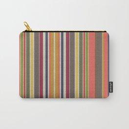 Warm Harmony Stripes Carry-All Pouch
