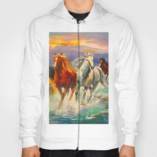 A herd of horses Hoody