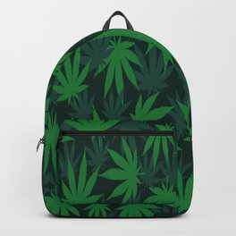 Weed Leaf Marijuana Cannabis Pattern Cool Gift Backpack