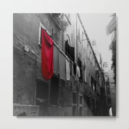 "Superman""s Laundry Day in Venice, Italy Metal Print"