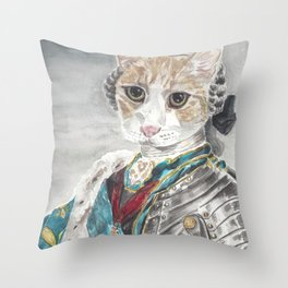 King Louis XVI Cat Throw Pillow