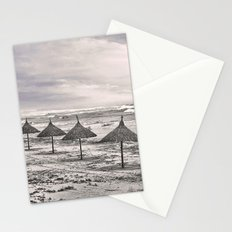 Huts in a row Stationery Cards