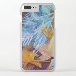 Fall Into Winter Clear iPhone Case