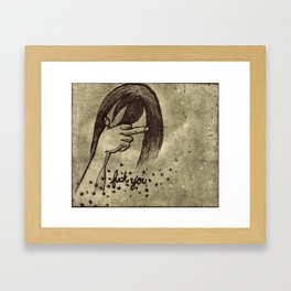 F#*% You Framed Art Print