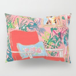 Red Chair Pillow Sham